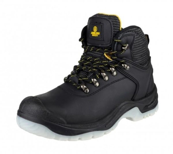 Amblers Black Crazy Horse Safety Boot Deep Padded Hiker FS199
