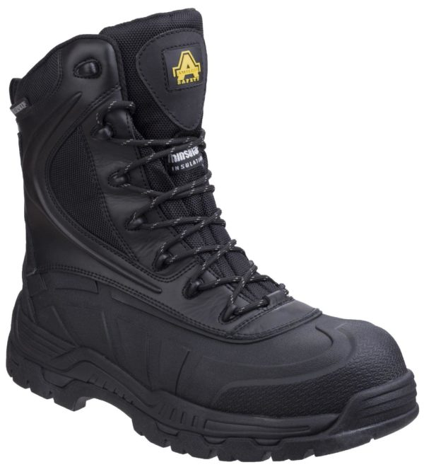 Amblers skomer hi leg Safety boot with inside zip AS440