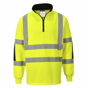 Portwest HIgh Vis 1/ 4 Zip Xenon Rugby Sweatshirt B308